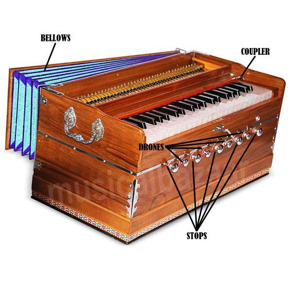 Parts of best harmonium